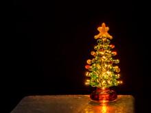 Glass Christmas Tree Back Lit ...