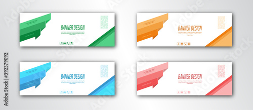 Fototapeta Abstract banner template. Editable vector illustration