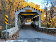 The Knox Covered Bridge On An ...