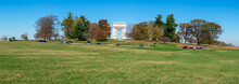 A Panoramic Shot Of The National Memorial Arch At Valley Forge