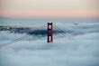 SAN FRANCISCO, UNITED STATES - Jan 06, 2013: San Francisco Golden Gate Bridge in fog