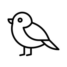 Red Robin Bird Icon, Thanksgiving Related Vector