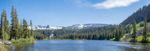 Mammoth Lakes panorama - moutains and forest