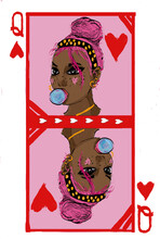 Queen Of Hearts Playing Card I...
