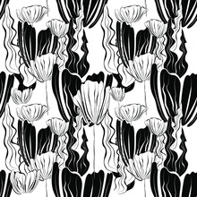 Seamless Patterns. White Backg...