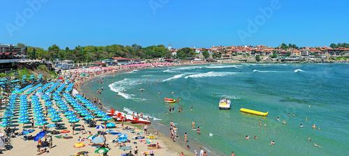 Photo Panorama of the Central beach in Sozopol, Bulgaria