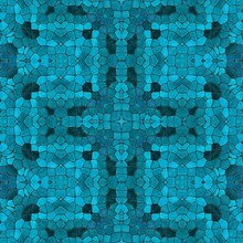 Pattern Mosaic Kaleidoscopic Seamless Generated Texture, Ornament, Fragile, Fractal, Material, Abstract Render Background
