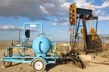 Oil Pumps In Oilfield At Taft