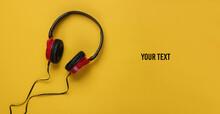 Stylish Wired Headphones On Ye...