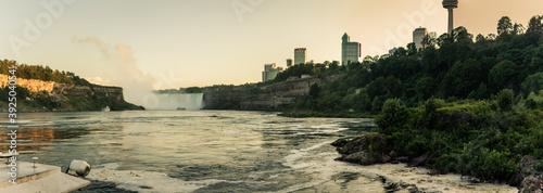 Panorama view of Niagara falls shooted from Canadian sightseeing boat on niagara Fototapet