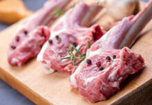 Raw Lamb Chops, Food Concept P...