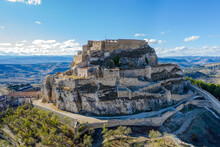 Castle Of Morella, The Province Of Castellon, Spain., Maestrazgo In Valencia, Spain