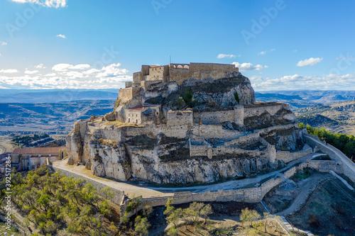 Castle of Morella, the province of Castellon, Spain., Maestrazgo in Valencia, Spain