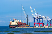 Cargo Seaport. Terminal For Lo...