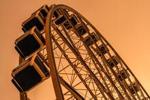 Ferris Wheel At Sunset