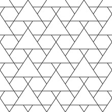 Mosaic. Triangles, Hexagons Ornament. Grid Background. Ethnic Tiles Motif. Geometric Grate Wallpaper. Parquet Backdrop. Digital Paper, Page Fills, Web Design, Textile Print. Seamless Abstract Pattern.