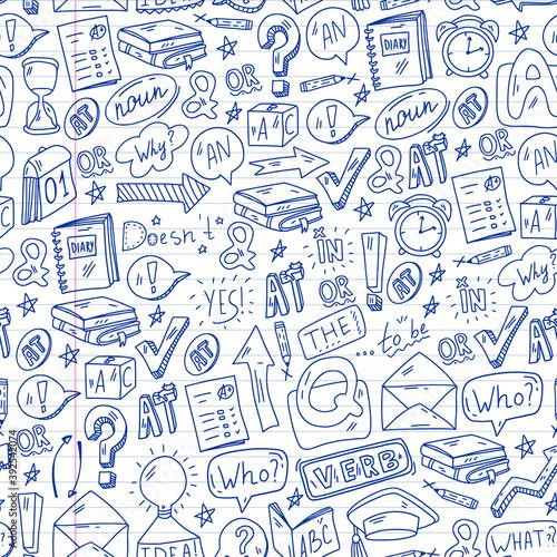 Tapety Angielskie  doodle-wektor-wzor-ilustracja-do-nauki-jezyka-angielskiego-e-learning-edukacja-online-w-internecie