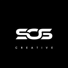 SOS Letter Initial Logo Design Template Vector Illustration