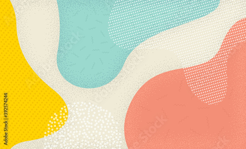 Colorful background in pop art style. Abstract colorful spotty pattern. Memphis texture style. Vector illustration.