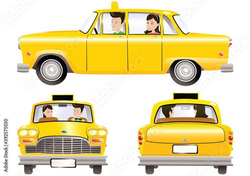 Obraz na plátne Yellow taxicab