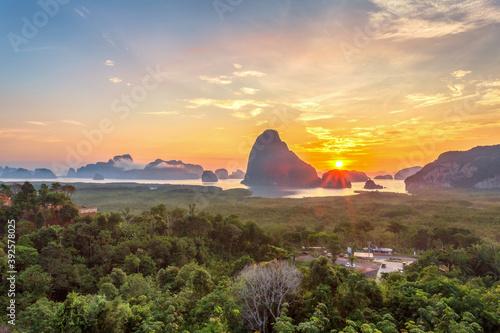 Beautiful view point at Samet Nang She, Phang-Nga Province, Thailand Fototapet