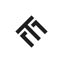 TM Letter Or TE Letter Logo Design Vector