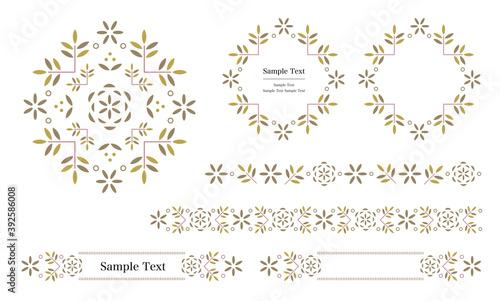 Valokuva ラベル、飾り罫、タイトルなどに使える装飾用ベクターデータのデザインセット( Illustrator CC2019&JPEG)
