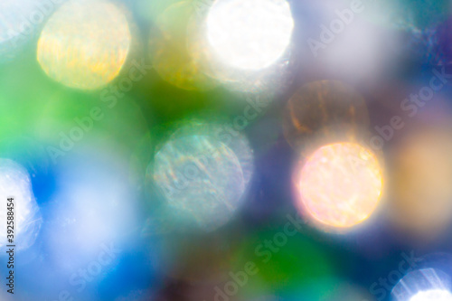 Cuadros en Lienzo bokeh for Christmas, New Years Eve, glittering colorful background