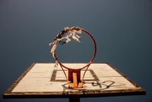 Basketball Hoop At Sunset