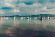 Group Of Boats Moored In The L...