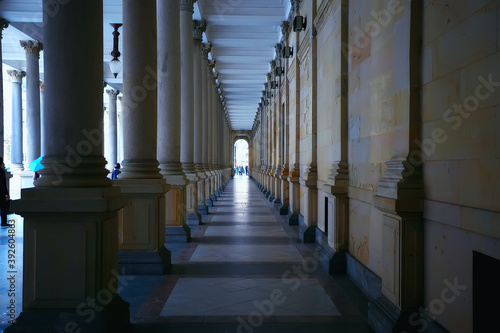 Fotomural Karlovy Vary Czech Republic / view of the landscape city of Karlovy Vary, a tour