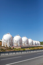 Plant For Storage Of Liquefied Petroleum Gas In Ball Tanks
