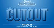 Emboss Cutout Text Effect - Editable Text Effect.
