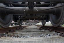 View Of The Train Wheels From ...