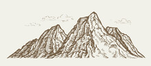 Mountain Landscape. Sketch Vin...