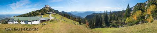 Fotografie, Obraz upper station of Kampenwand mountain, alpine panorama Chiemgau alps, bavaria