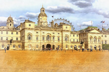 View On Horse Guards Parade Building Colorful Painting Looks Like Pictur