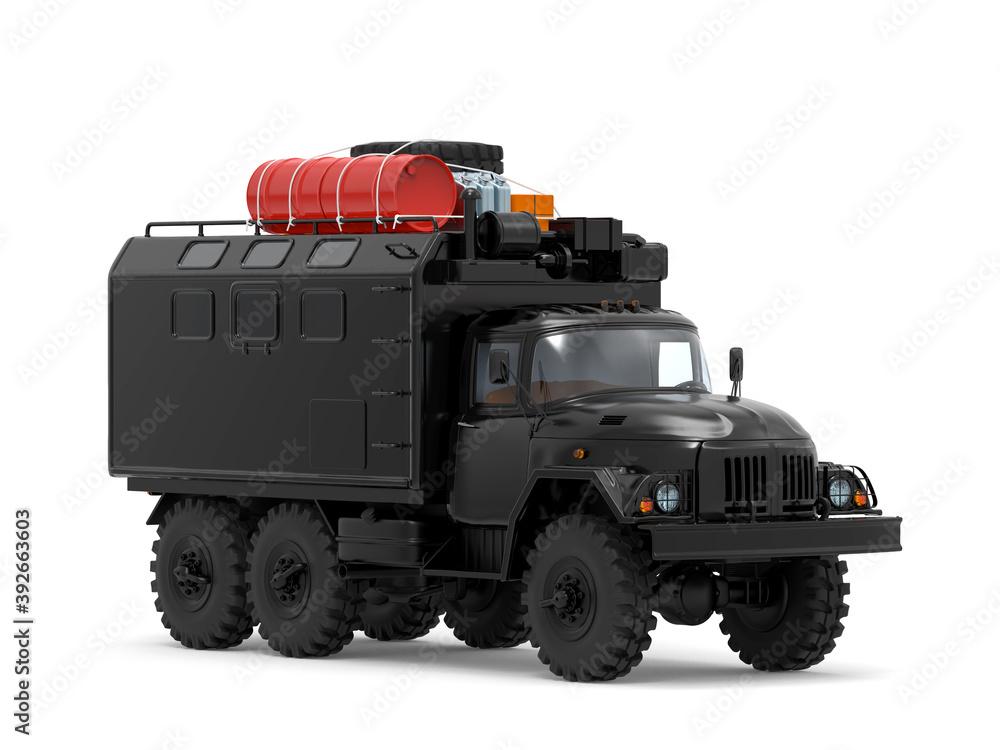 Fototapeta truck off-road military apocalypse