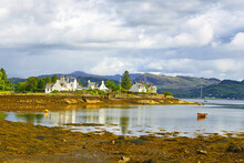 """""""The Jewel Of The Highlands"""", Plockton Is A Picturesque Highland Village That Sits On A Sheltered Bay With Stunning Views Overlooking Loch Carron Of Scotland In The County Of Ross And Cromarty"""
