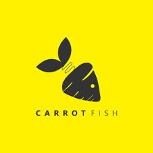 Carrot Fish Logo, Unique Symbo...