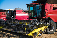 Combine Harvesters Ready For H...