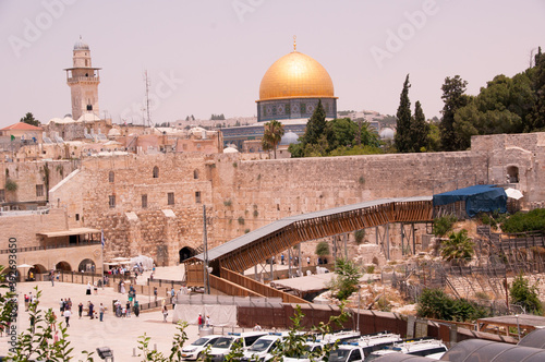 Tablou Canvas JERUSALEM ISRAEL: At the Western Wall, an ancient limestone wall in the Old City of Jerusalem