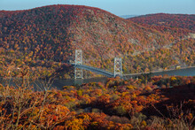 Bear Mountain Bridge Over The Hudson River In New York (otherwise Known As The Purple Heart Veterans Memorial Bridge)