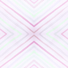 Watercolor Rhombus. Geometric Seamless Pattern.