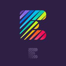 E Letter Logo With Multicolor ...