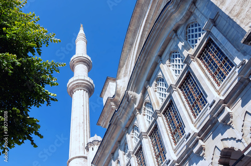 Nuruosmaniye mosque is a monument of Ottoman art, Istanbul. Canvas
