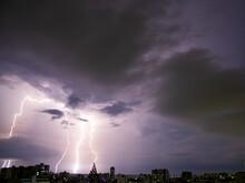 Lighting Thunderstorm With Dar...