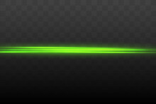 Abstract Green Laser Beam. Transparent Isolated On Black Background. Vector Illustration.the Lighting Effect.floodlight Directional