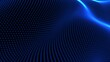 blue particle wave background.