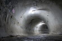A Concrete Tunnel Round Shape ...